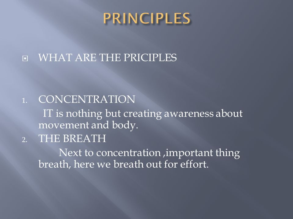  THE PRINCIPLES  WHENEVER WE STARTS A PROGRAMME, THERE SHOULD BE SOME BASIC PRINCIPLES.