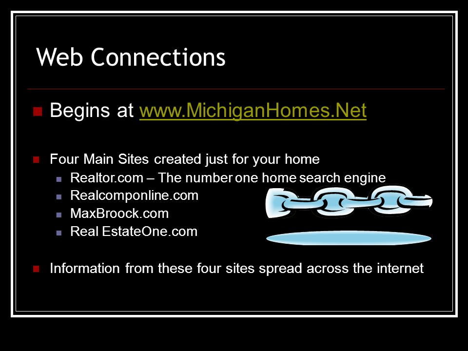 Blog All Social Media Blog.Michiganhomes.net Mediums Facebook Twitter Linked-In YouTube Plaxo My Space Information Shared New Listings Market Trends Informative News Viewed by Business Associates and Friends – A Huge Network