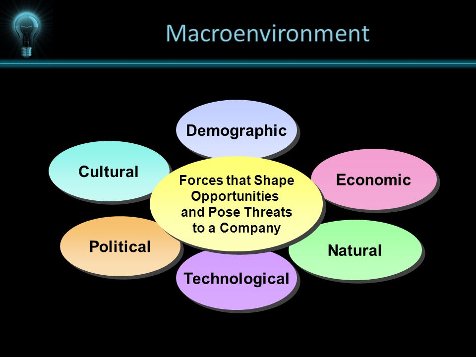 Demographic Technological Cultural Economic Political Natural Forces that Shape Opportunities and Pose Threats to a Company Forces that Shape Opportunities and Pose Threats to a Company