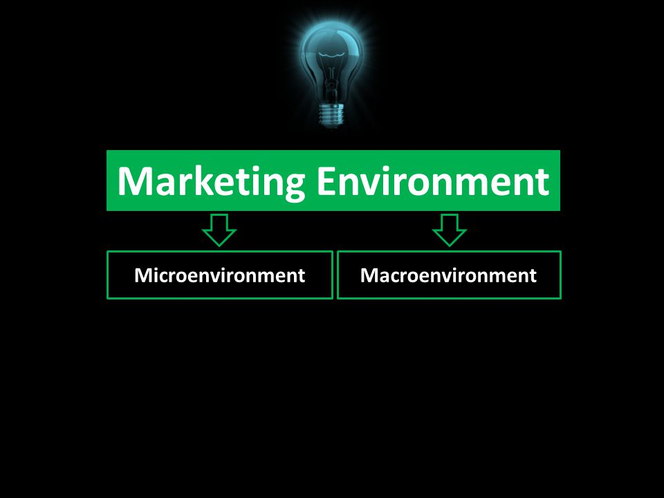 Marketing Environment MicroenvironmentMacroenvironment