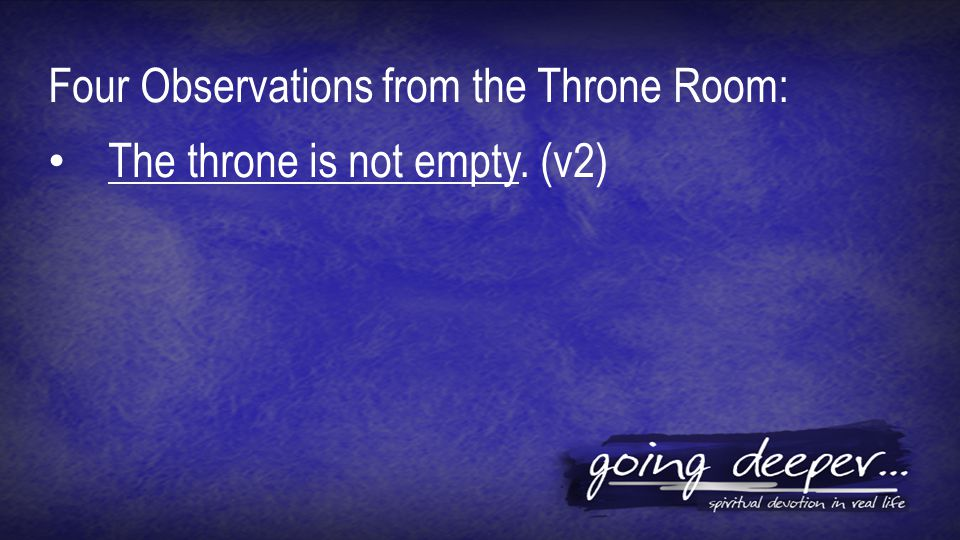 The throne is not empty. (v2)