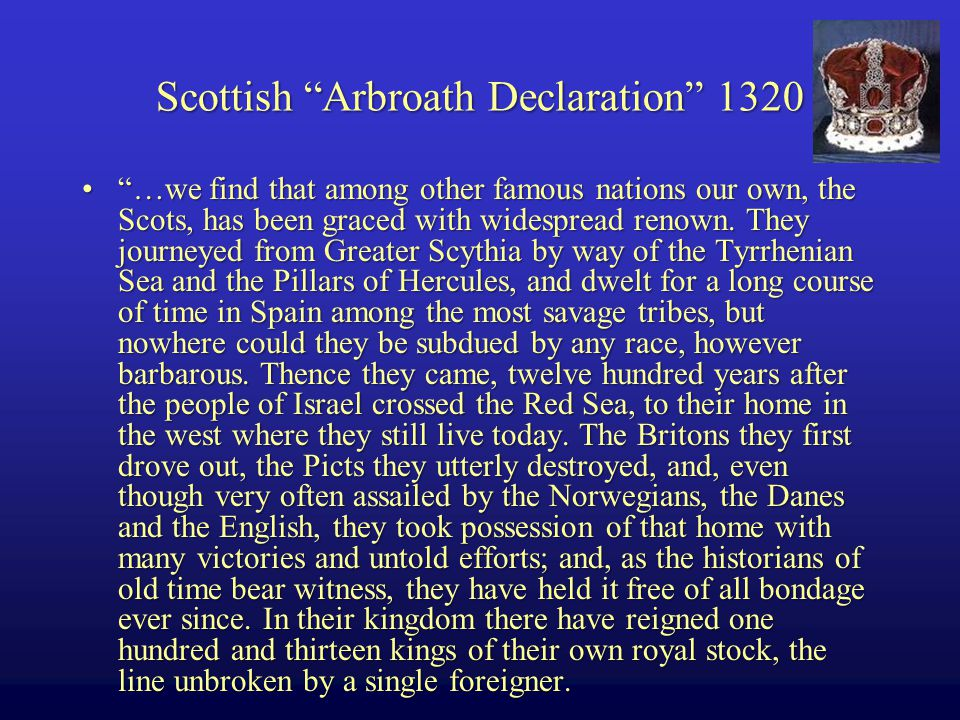 …we find that among other famous nations our own, the Scots, has been graced with widespread renown.