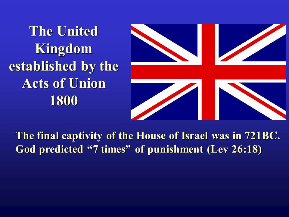 The final captivity of the House of Israel was in 721BC.
