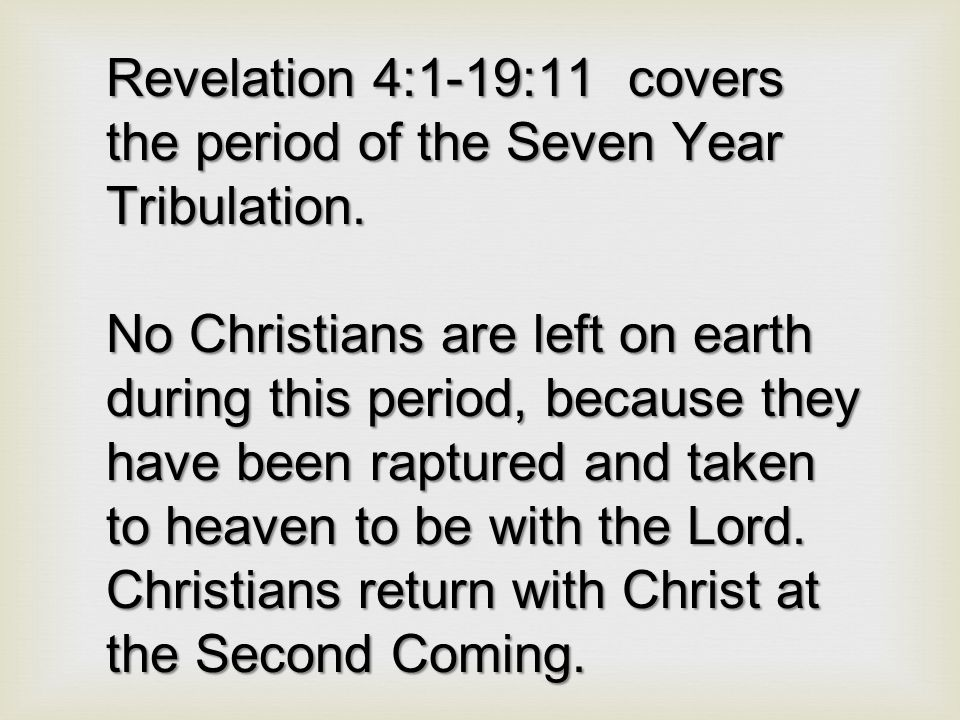 God's Promise to believer in this the Church Age Because thou hast kept the word of my patience, I also will keep thee from the hour of temptation, which shall come upon all the world, to try them that dwell upon the earth. (Revelation 3:10)