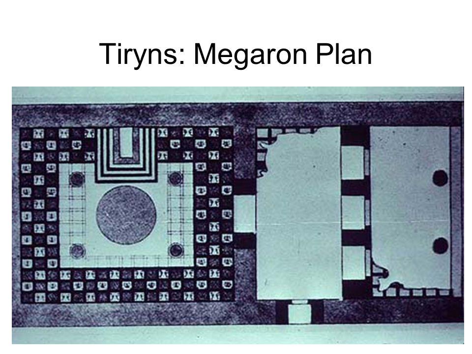 Tiryns: Megaron Plan