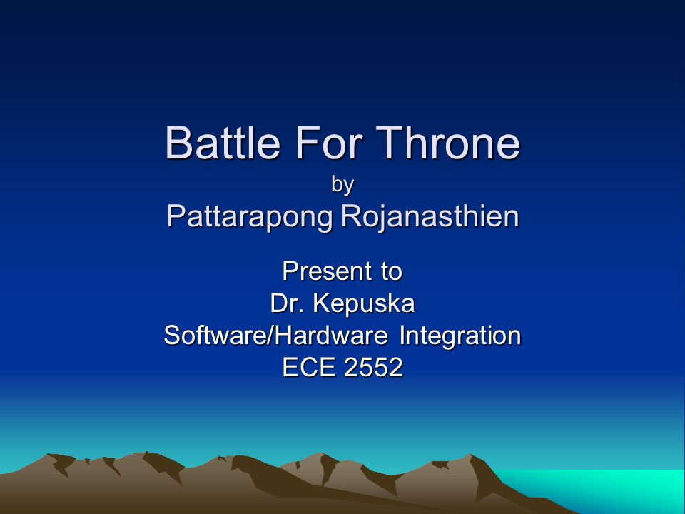 Battle For Throne by Pattarapong Rojanasthien Present to Dr.
