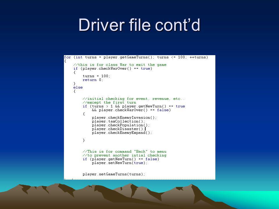 Driver file cont'd