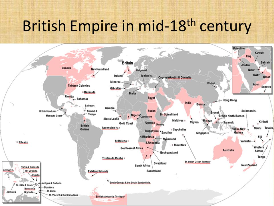 British Empire in mid-18 th century