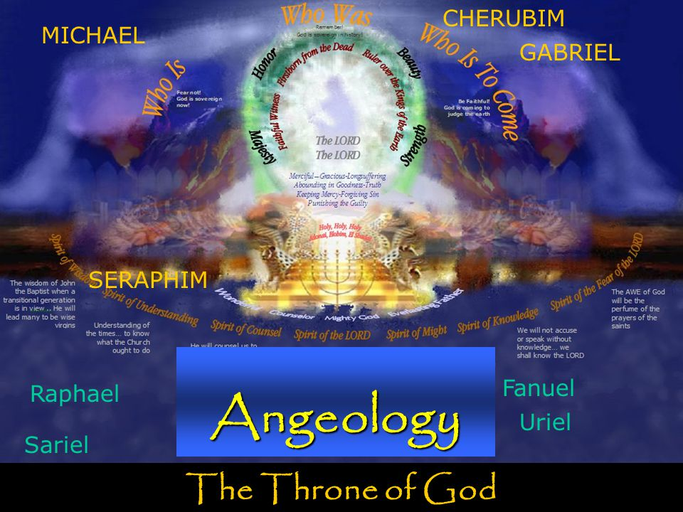 The Throne of God Angeology MICHAEL SERAPHIM GABRIEL CHERUBIM Raphael Uriel Fanuel Sariel