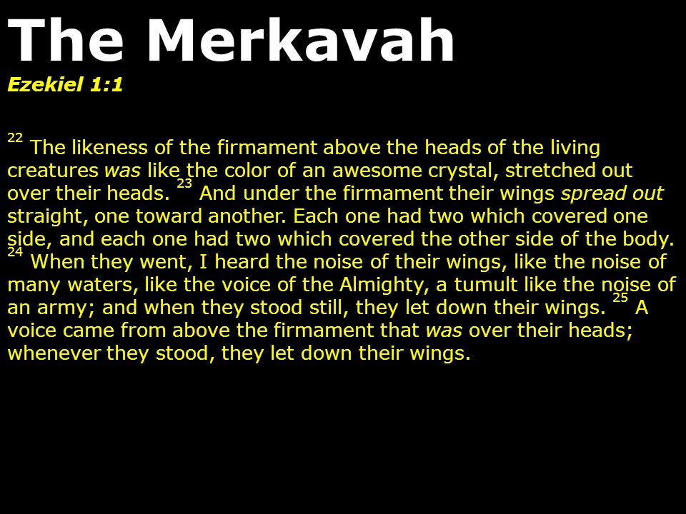 Ezekiel 1:1 22 The likeness of the firmament above the heads of the living creatures was like the color of an awesome crystal, stretched out over thei