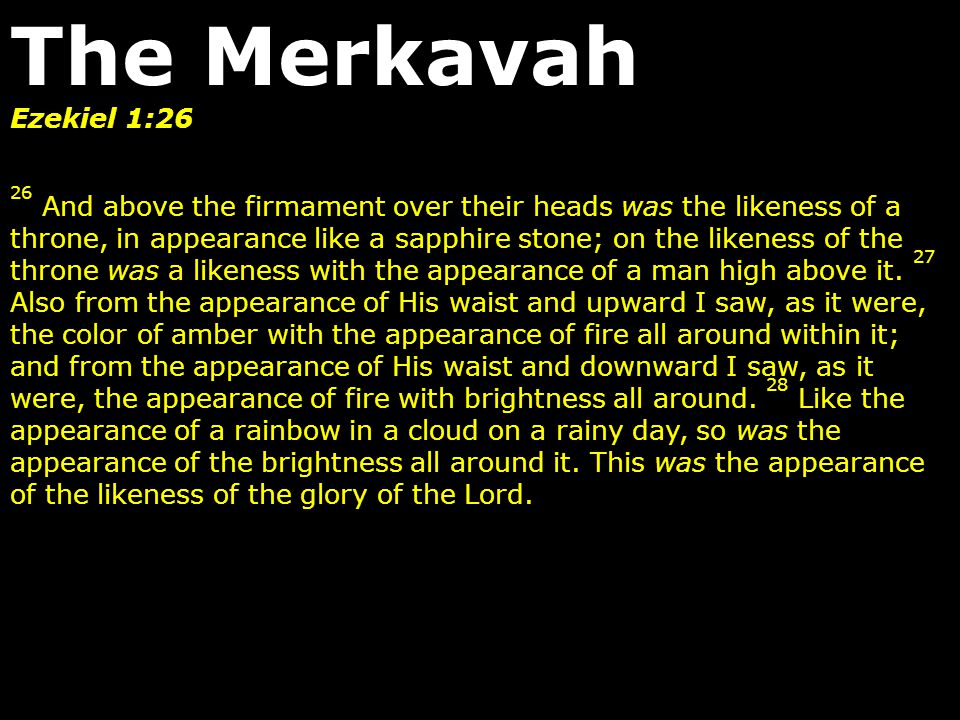 Ezekiel 1:26 26 And above the firmament over their heads was the likeness of a throne, in appearance like a sapphire stone; on the likeness of the thr