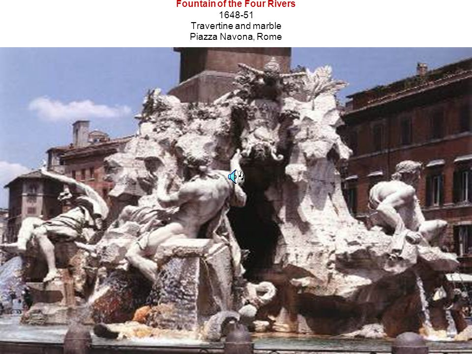 Fountain of the Four Rivers 1648-51 Travertine and marble Piazza Navona, Rome