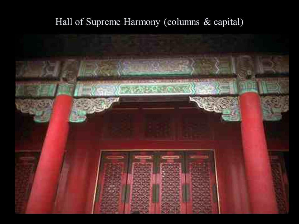 Hall of Supreme Harmony (columns & capital)
