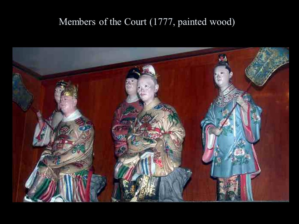 Members of the Court (1777, painted wood)