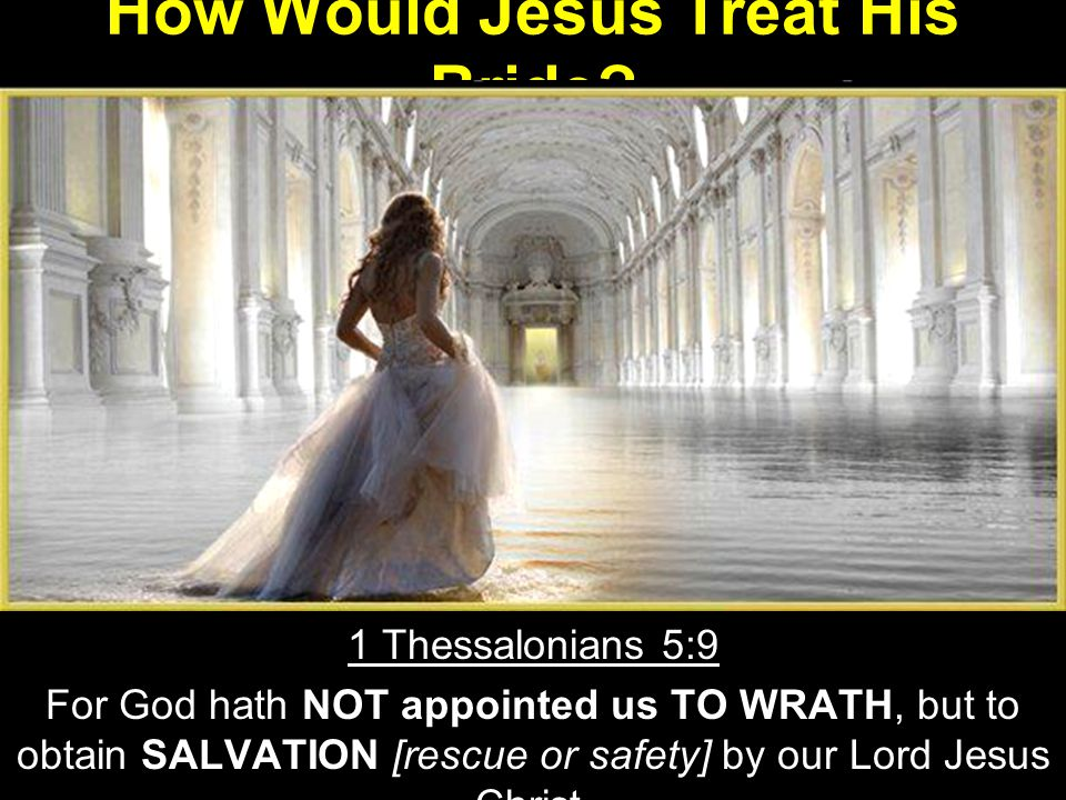 How Would Jesus Treat His Bride.