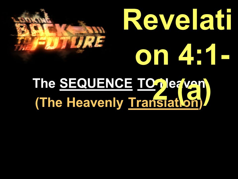 Revelation 4:1 After this I looked, and, behold, a door was opened in heaven : and the first voice which I heard was as it were of a trumpet talking with me; which said, Come up hither, and I will shew thee things which must be hereafter.