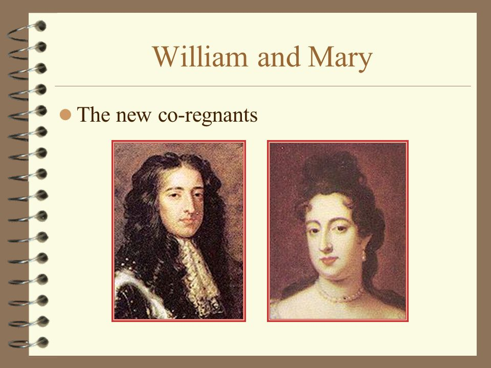 William and Mary The new co-regnants