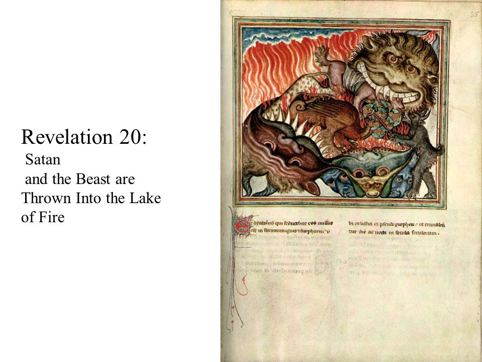 Revelation 20: Satan and the Beast are Thrown Into the Lake of Fire