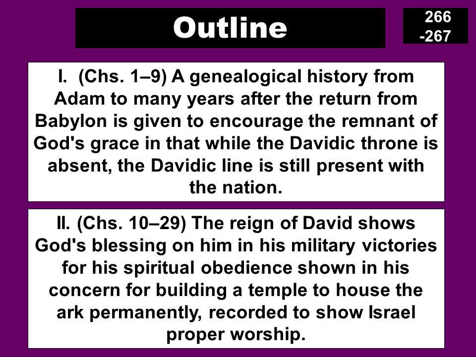 Outline 266 -267 I. (Chs.