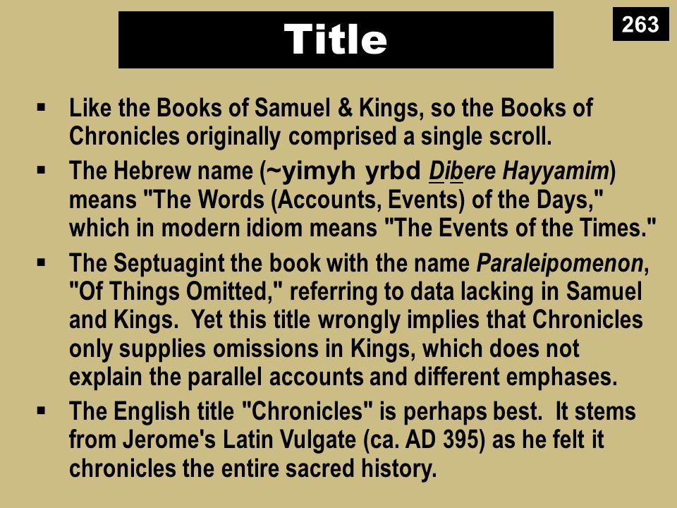 Authorship External Evidence The Talmud says Ezra the priest authored the work.