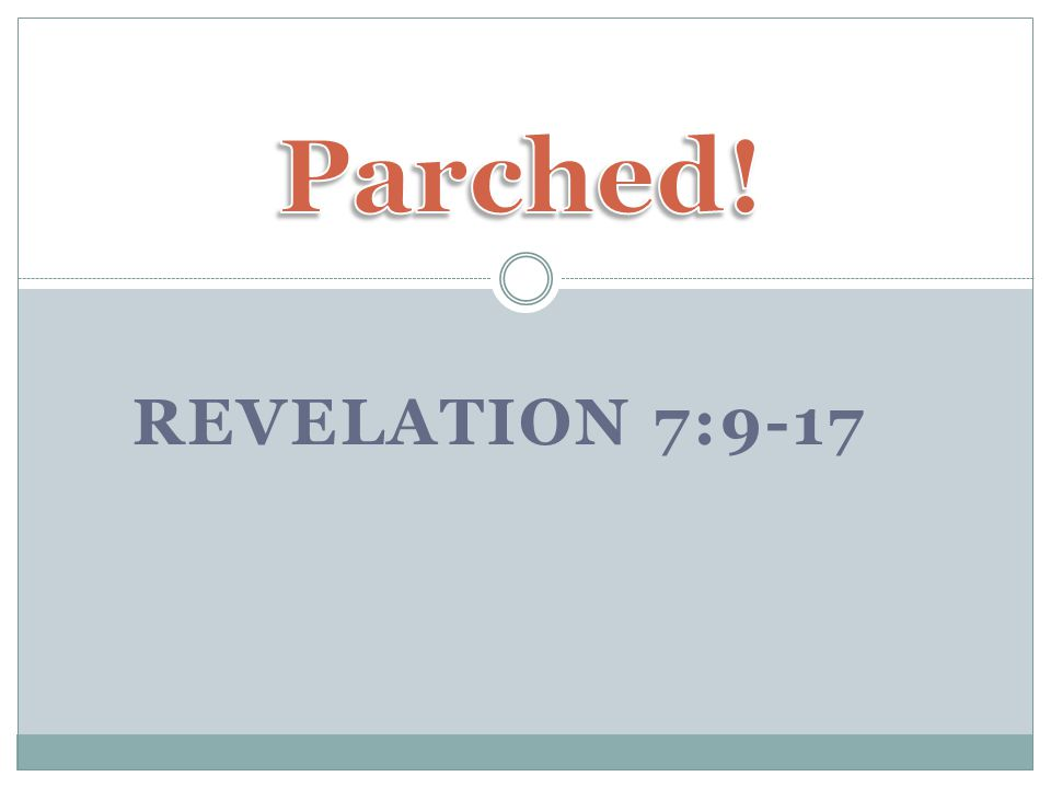 REVELATION 7:9-17