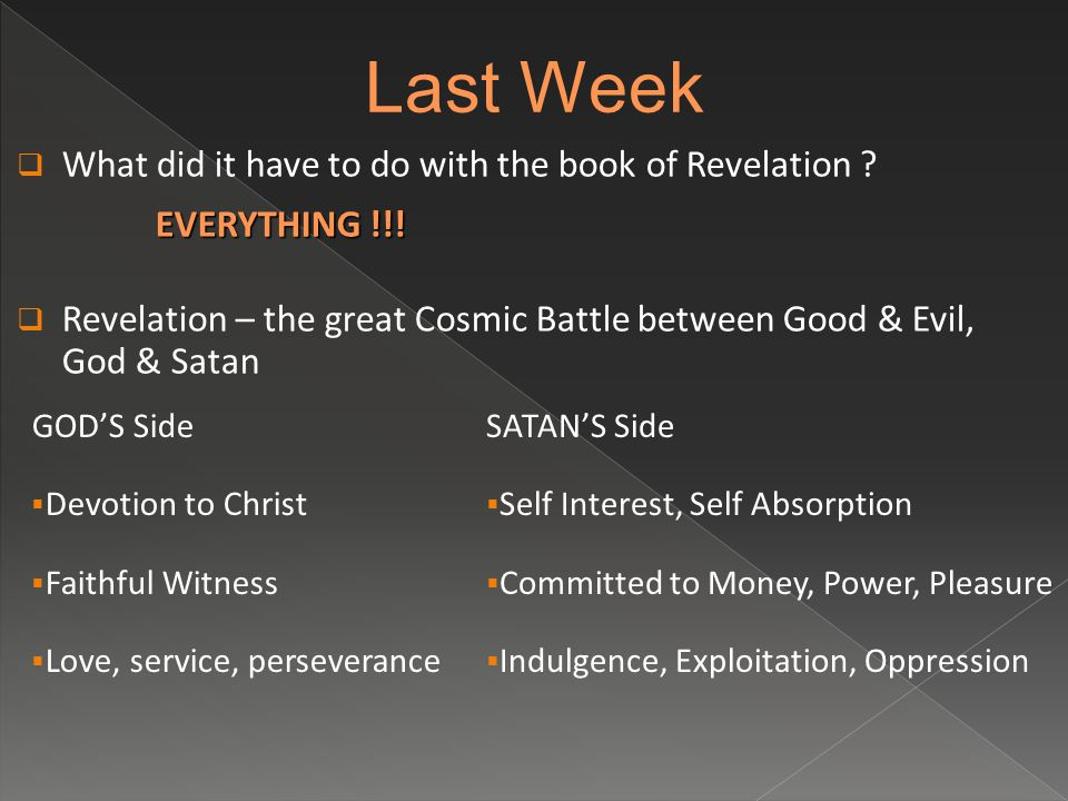  What did it have to do with the book of Revelation .