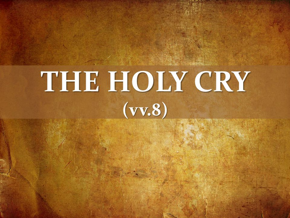 THE HOLY CRY (vv.8)