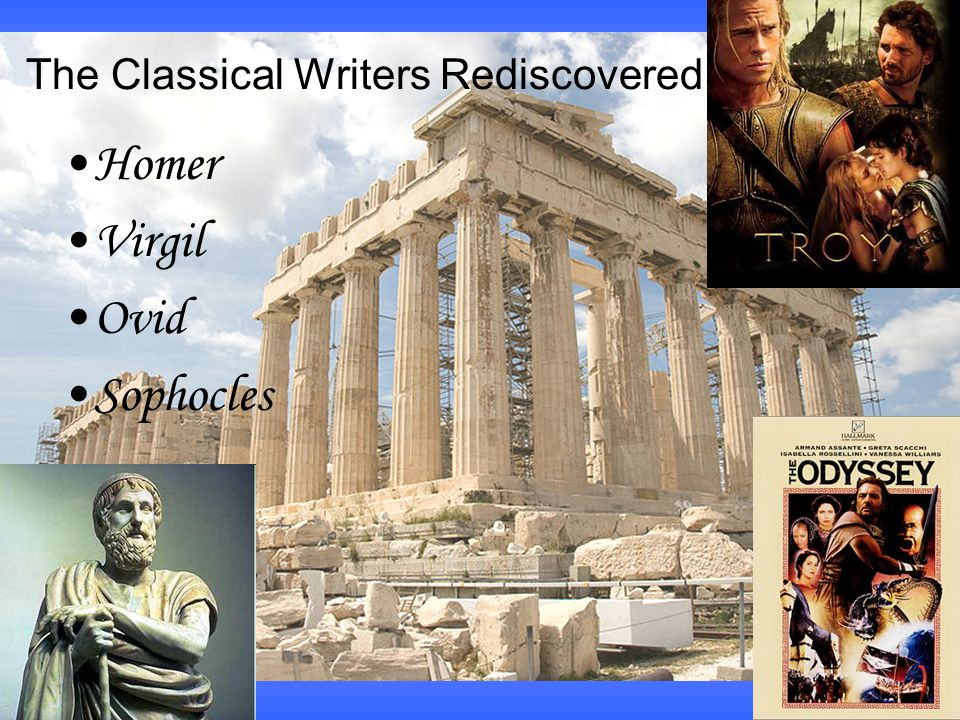 The Classical Writers Rediscovered Homer Virgil Ovid Sophocles