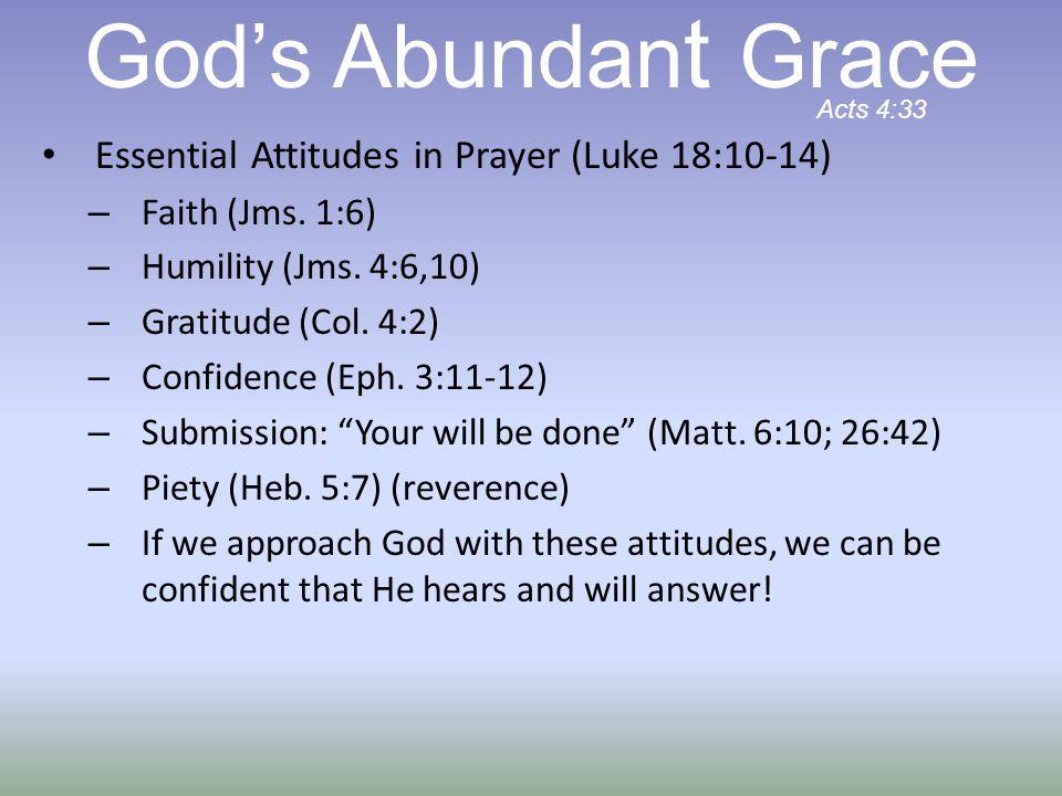 Essential Attitudes in Prayer (Luke 18:10-14) – Faith (Jms.