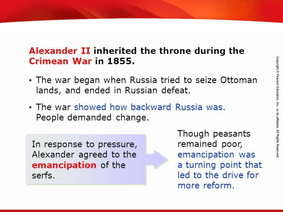 TEKS 8C: Calculate percent composition and empirical and molecular formulas. The war began when Russia tried to seize Ottoman lands, and ended in Russ