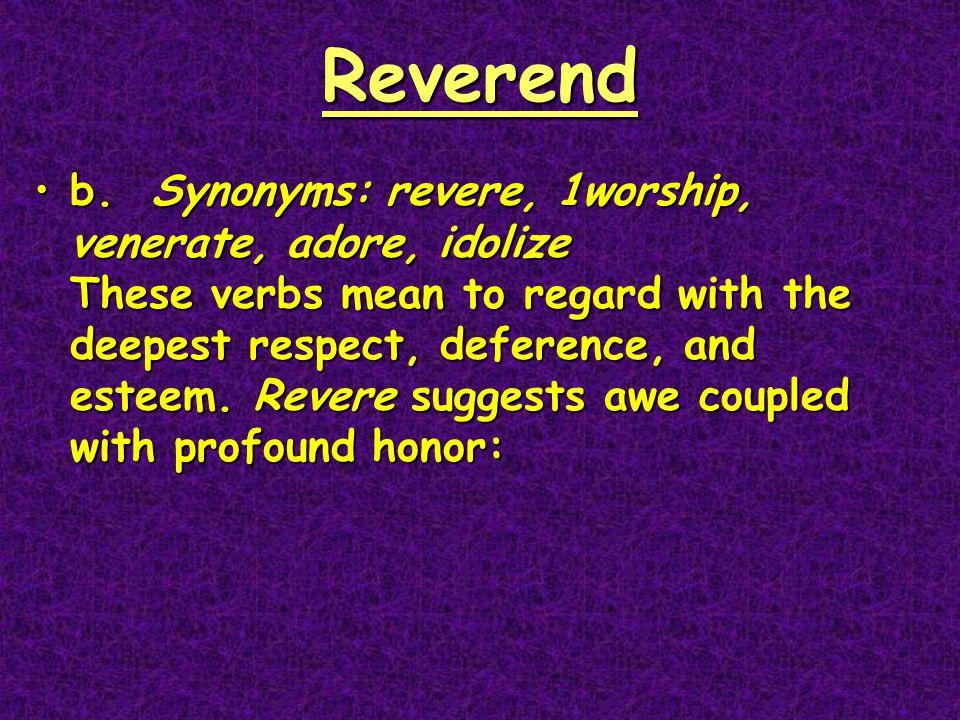 Reverend b.