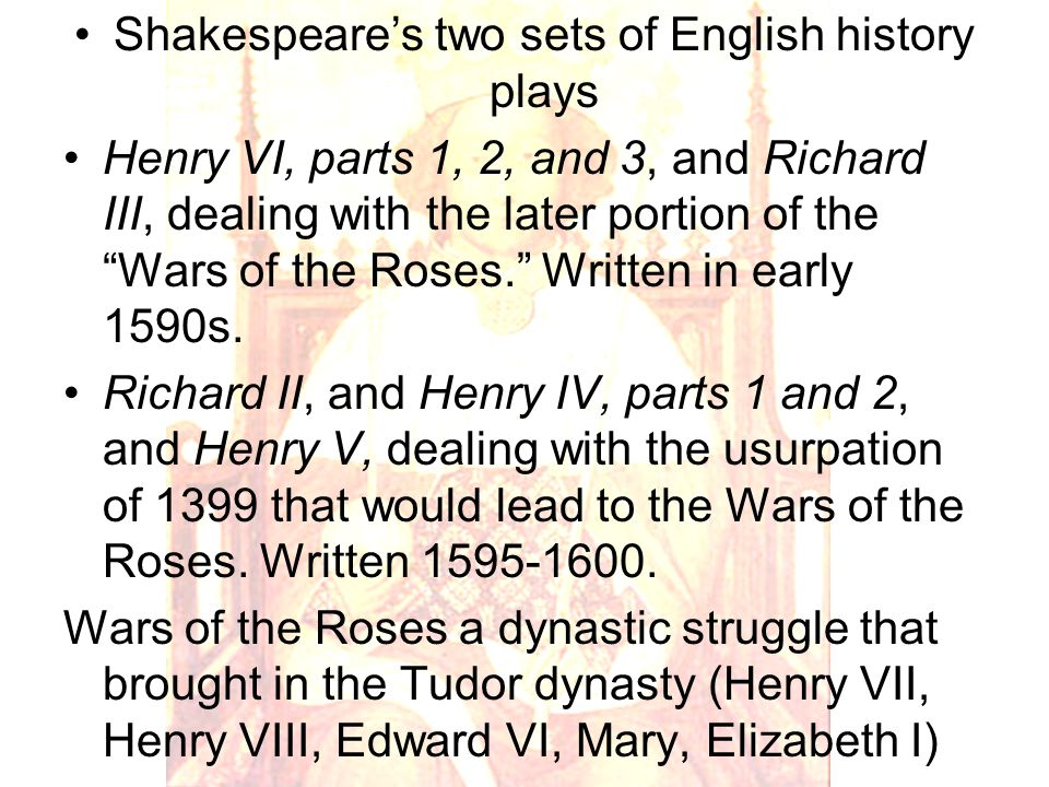 Five successive seizures of the English crown in 15 th century Henry VI comes to throne as a nine-month-old child in 1422.