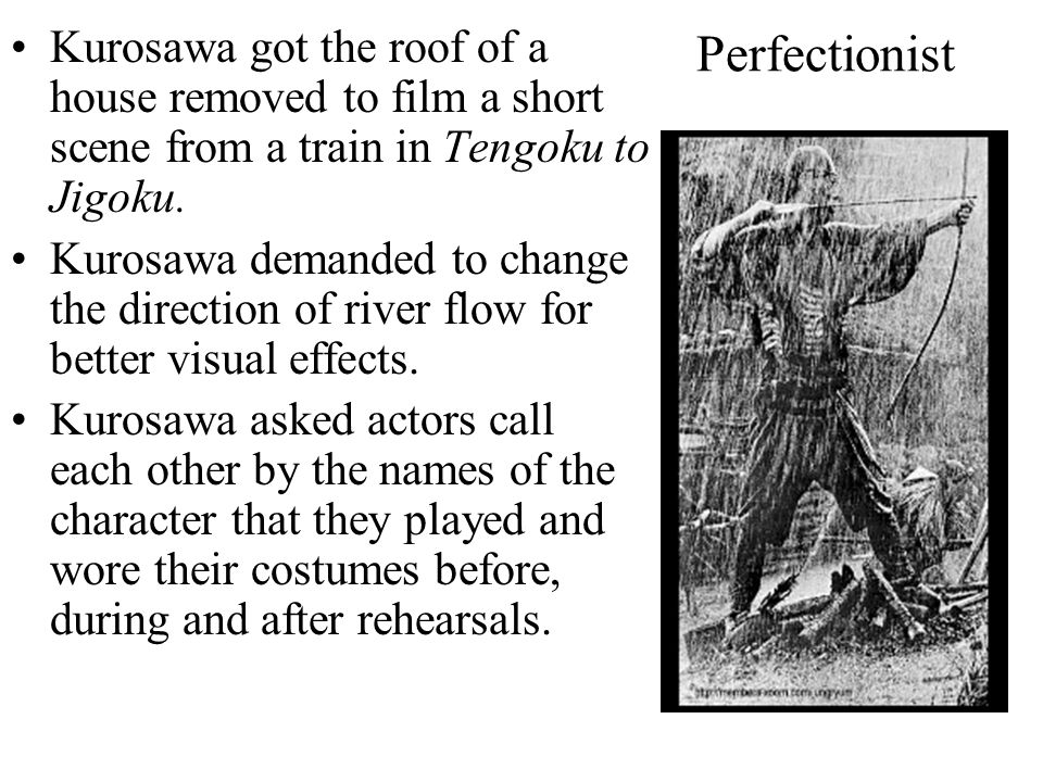 Perfectionist Kurosawa used real arrows for the concluding scenes of Throne of Blood.