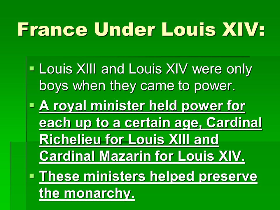 BELL RINGER  1) What is absolutism. 2) Who was Louis XIV.