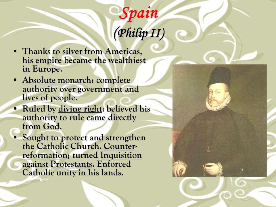 Spain ( The Wars of Philip II) Defeated Ottoman Muslims in the Mediterranean region.