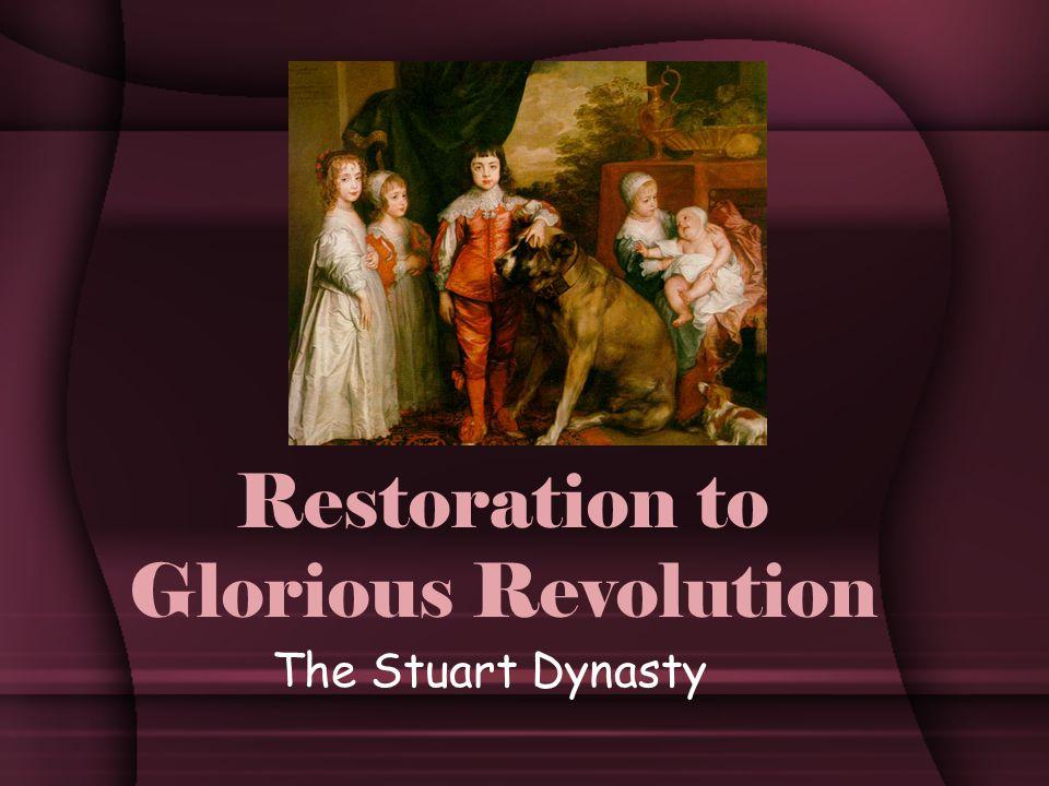 Restoration to Glorious Revolution The Stuart Dynasty