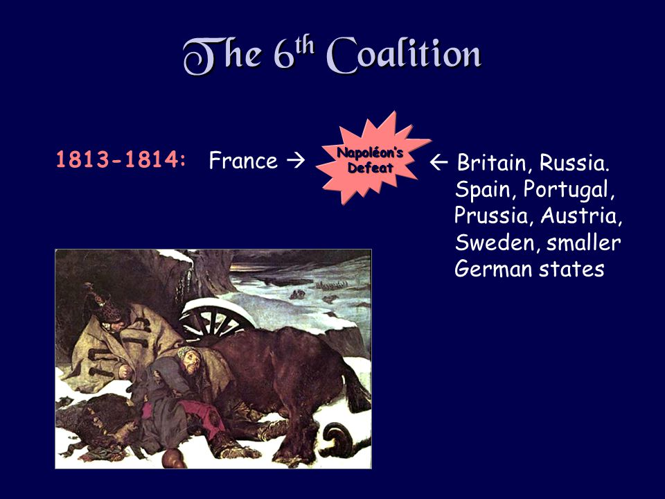 The 6 th Coalition  Britain, Russia.