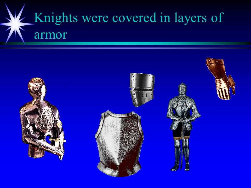 Knights were covered in layers of armor