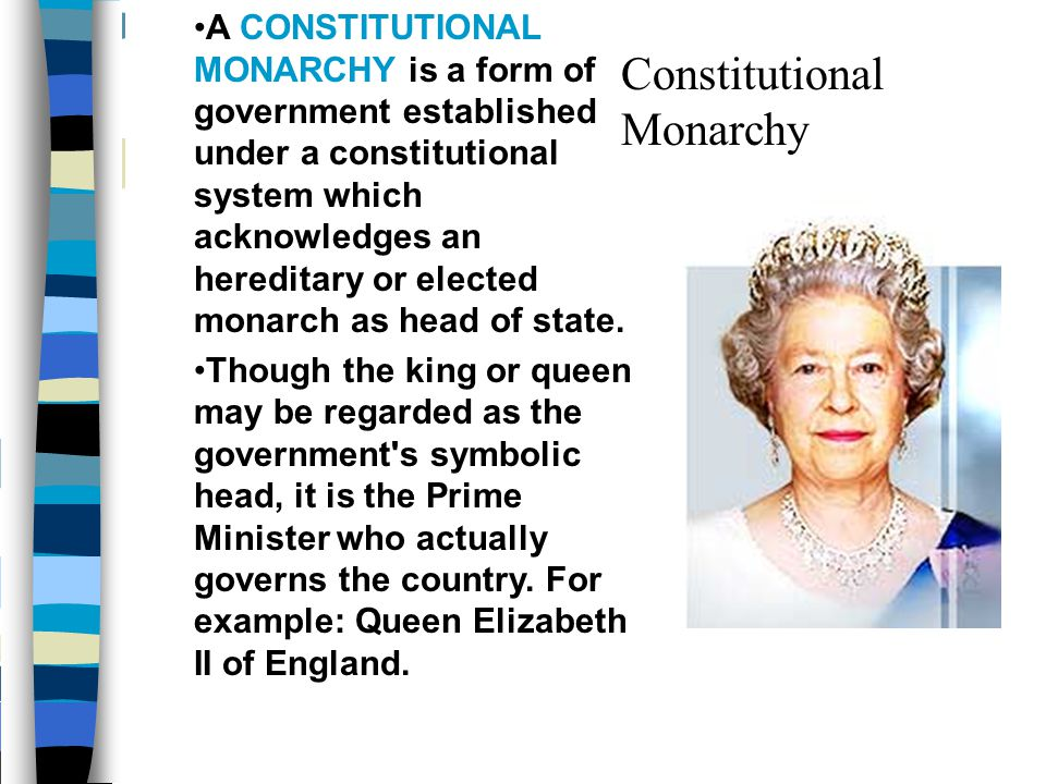 Political Changes First Constitutional Monarchy where laws limited the ruler's power Bill of Rights: No suspension of Parliament's laws No taxes w/o Parliament's consent Freedom of speech in Parliament No penalty for complaining about the King