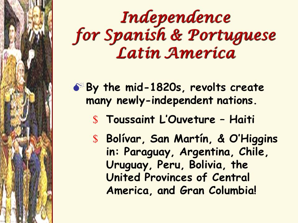 Latin American States After the Revolutions