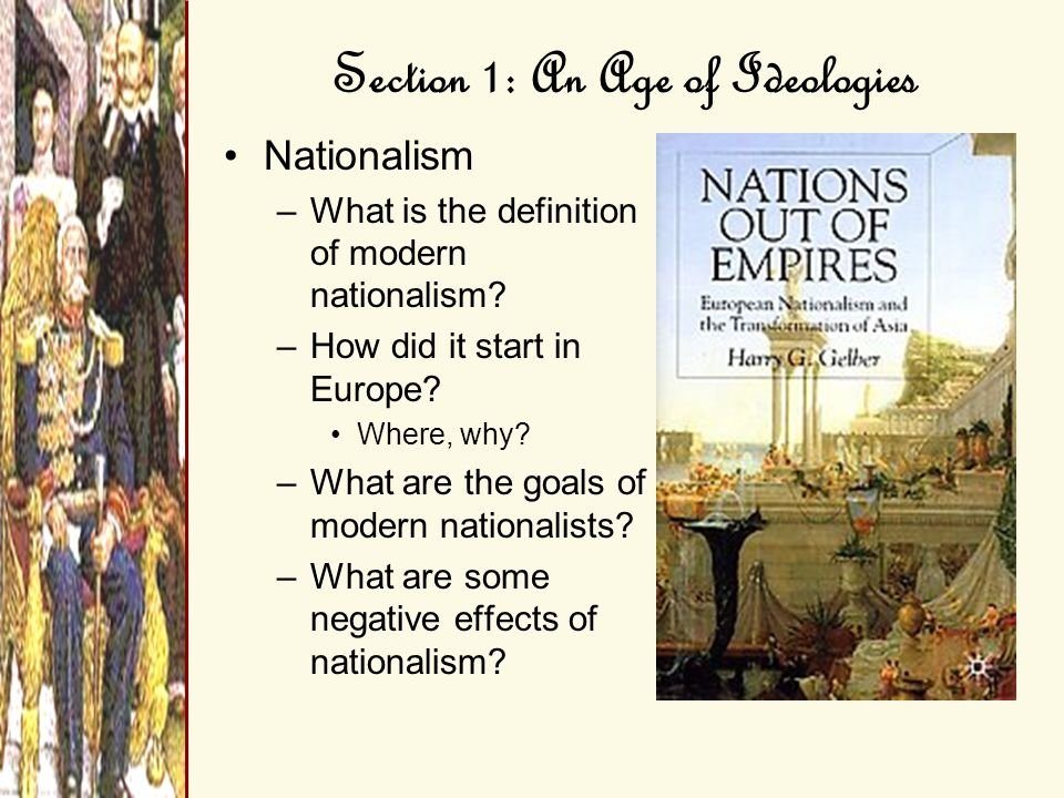Section 1: An Age of Ideologies Revolts Against the Old Order –Balkans Why did the Serbians revolt against the Ottoman Empire.