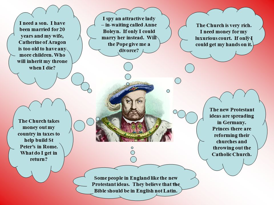 Catherine Parr Born in England She had been married twice before They had no children Henry married her to look after him in his old age She outlived him as Henry died in 1547