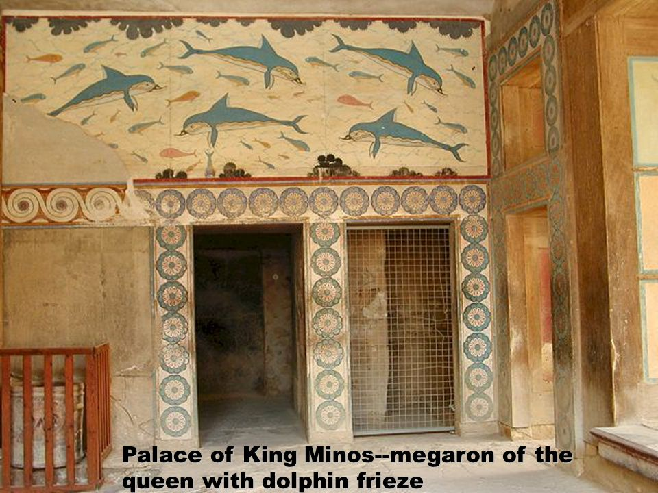 Palace of King Minos--megaron of the queen with dolphin frieze