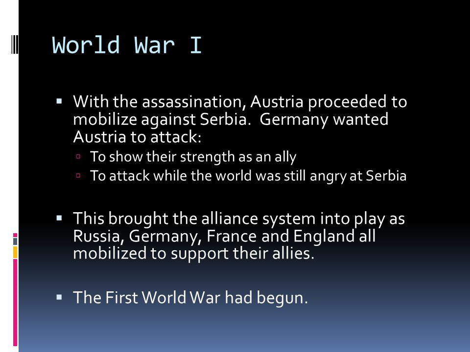 World War I  World War I was unlike any other war fought in human history and is considered the first modern war  New advances in technology and tactics rendered the old way obsolete.