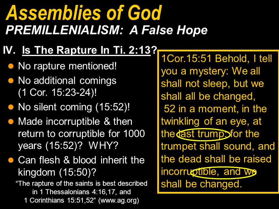 IV. Is The Rapture In Ti. 2:13.