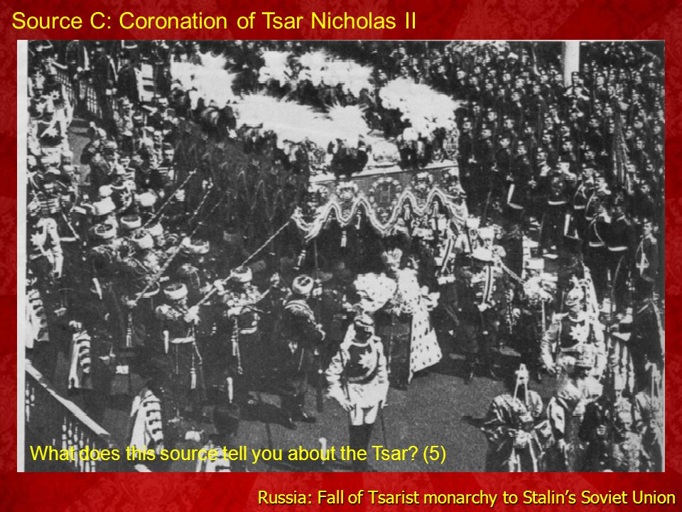 Russia: Fall of Tsarist monarchy to Stalin's Soviet Union Source C: Workers in Tsarist Russia What can you infer about working conditions in Tsarist R