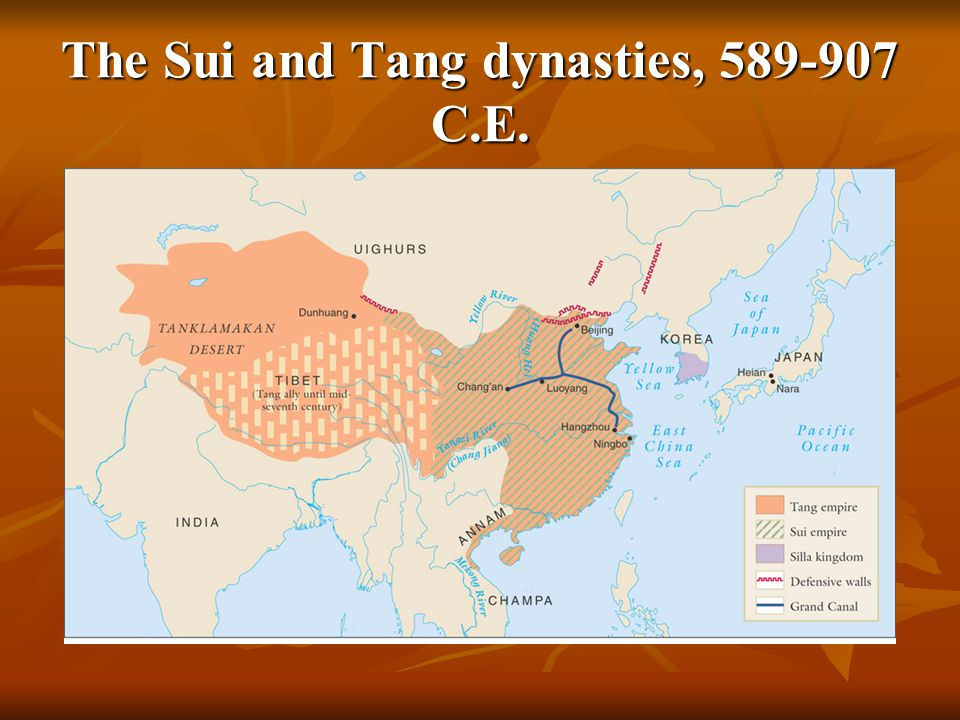 The Sui and Tang dynasties, 589-907 C.E.