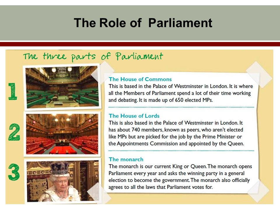 Future of Parliament General Introduction of the Parliament Reform since 1950s Next Possible Steps of Reform
