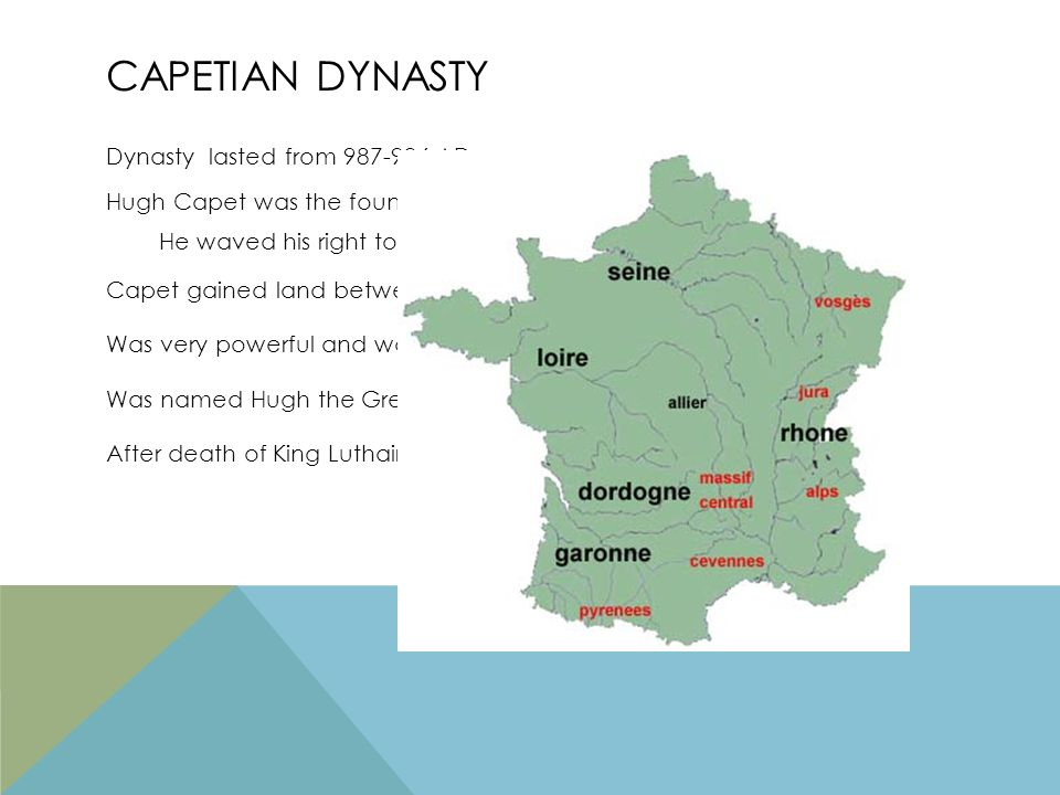 END OF CAPETIAN RULE Capetians initially controlled only the duchy of France Philip III the Bold (1270-1285) County of Toulouse