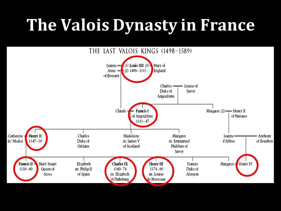 The Valois Dynasty in France